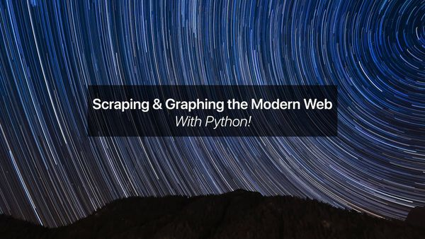 Scraping and Graphing the Web with Python: Part 1